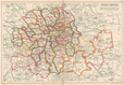 LONDON BOROUGHS. Metropolitan & Parliamentary. Consistiuencies. BACON, 1927 map
